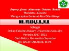 WELCOME NEW DEAN ON FACULTY OF LAW SAMUDRA UNIVERSITY